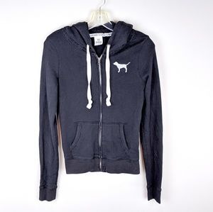 PINK Victoria's Secret | Gray White Hoodie - W3